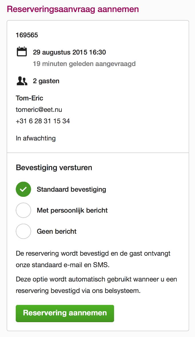 responsive design reserveersysteem